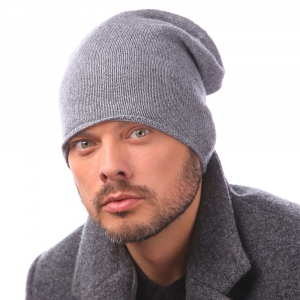 Knited men's scarf Pulcra Cashmere cap