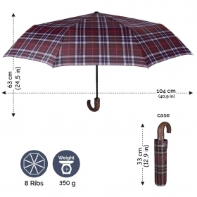 Men's automatic Open-Close umbrella Perletti 21664 Technology