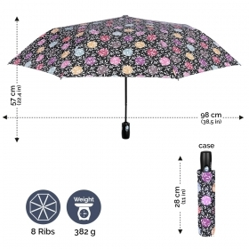 Ladies' automatic Open-Close umbrella Perletti 21656 Technology