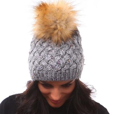 зимна плетена шапка с вълна и алпака