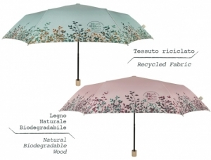 Ladies' manual umbrella Perletti Green 19108
