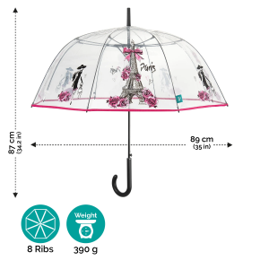Ladies' automatic golf umbrella Perletti Time 26135